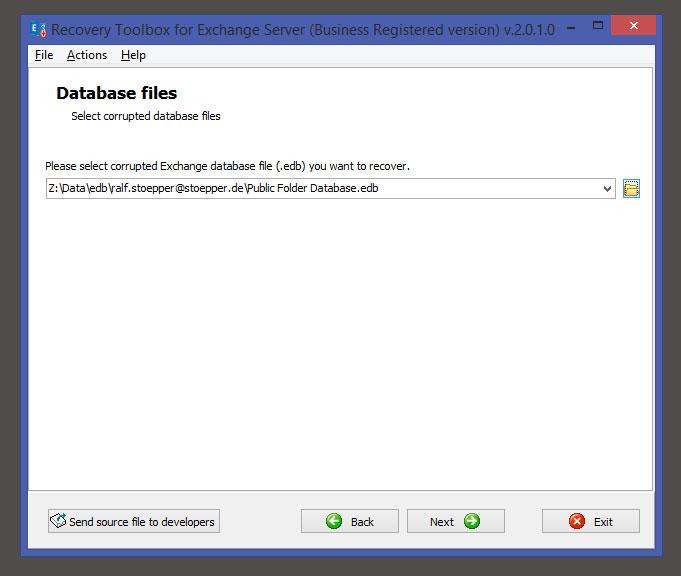 choose output folder