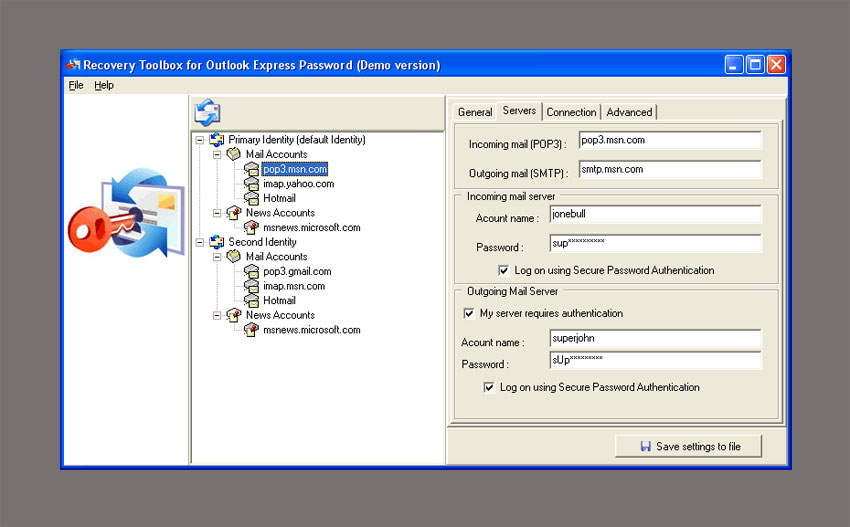 Recovery Toolbox for Outlook Express Password - Find Your