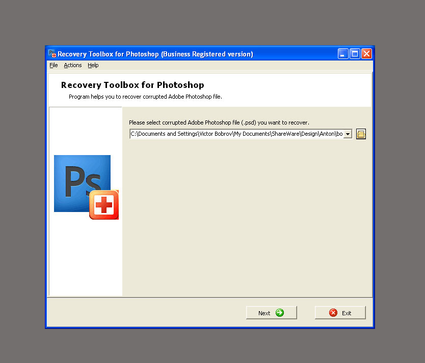Recovery Toolbox For Photoshop Compact Application For Psd Files
