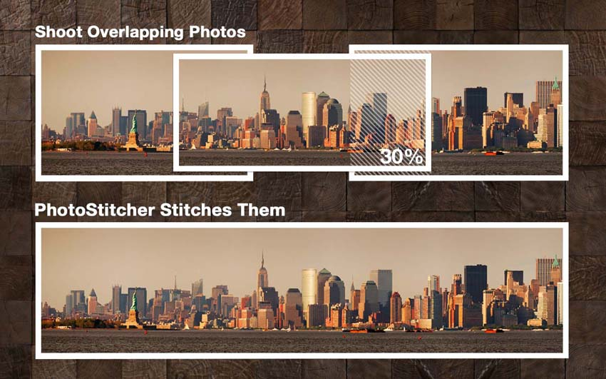 stitch overlapping photos