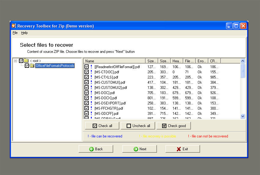 Recovery Toolbox for Zip - Recover Corrupted ZIP Files!